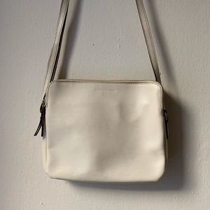 Banana Republic Cream Leather Crossbody Bag